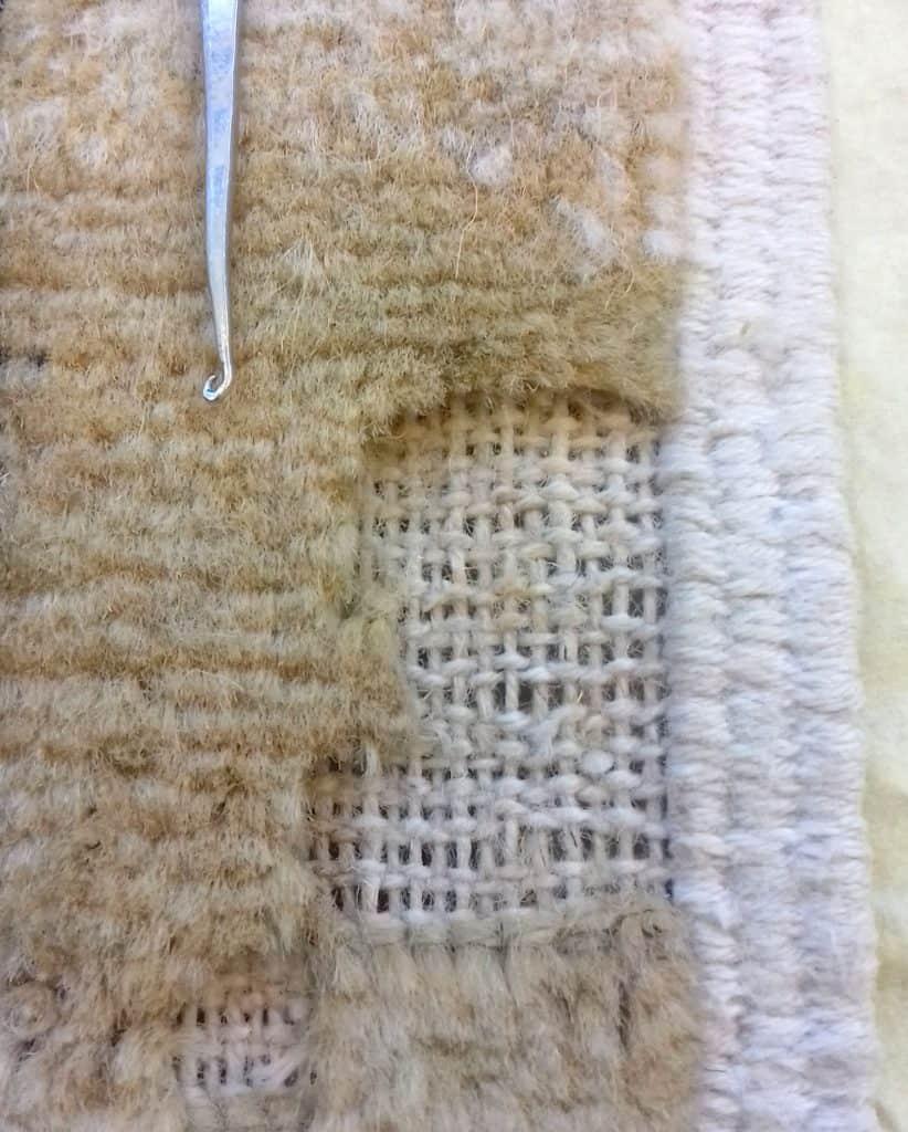 Ricostruzione vello tappeti tarmati